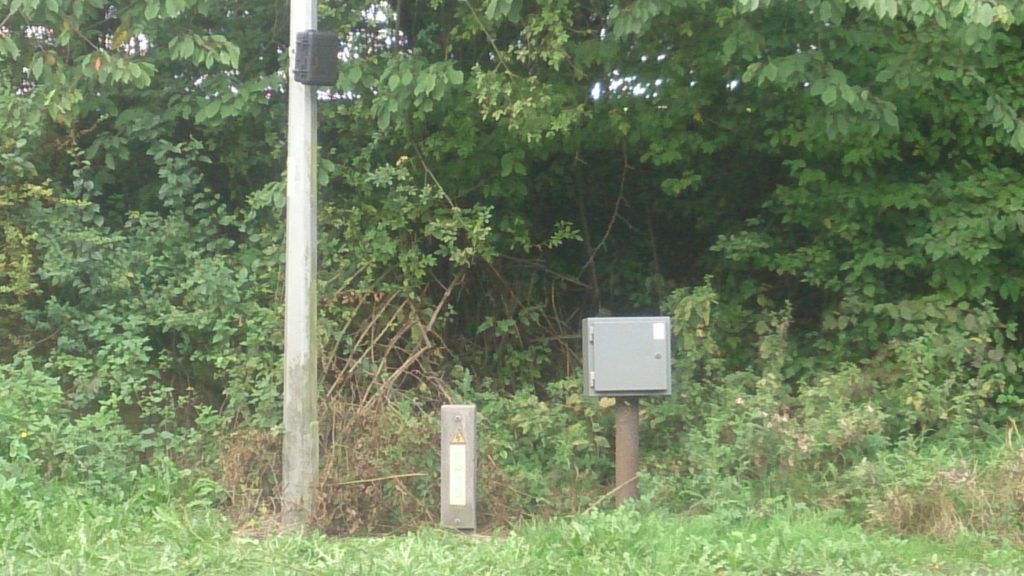 Loop counter next to the carriageway